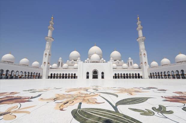 Masjid Sheikh Zayed atau Grand Mosque, Abu Dhabi, Uni Emirat Arab