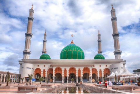 Pesona Kubah Masjid Agung Madani Rokan Hulu
