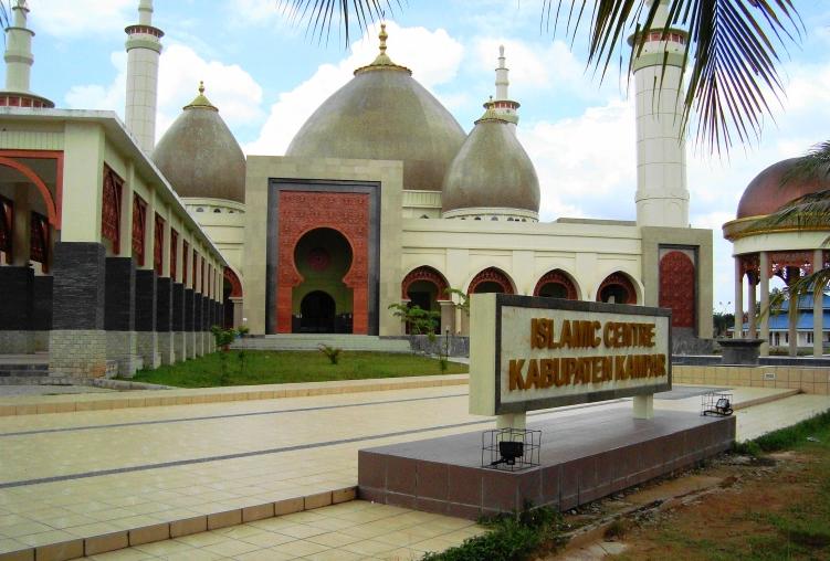Arsitektur Kubah Masjid Islamic Center Bangkinang Kabupaten Kampar