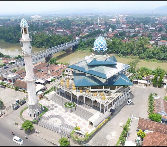 Bangunan Arsitektur Kubah Masjid Agung Kota Kediri