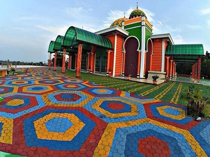 Indahnya Warna Masjid Baitul Makmur Tanjunguban Kontraktor Kubah
