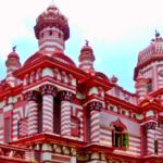 Arsitektural Masjid Jami Ul Alfar Colombo Srilanka