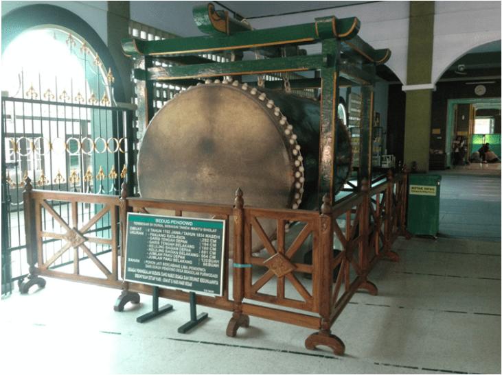 bedug besar di masjid agung darul muttaqin