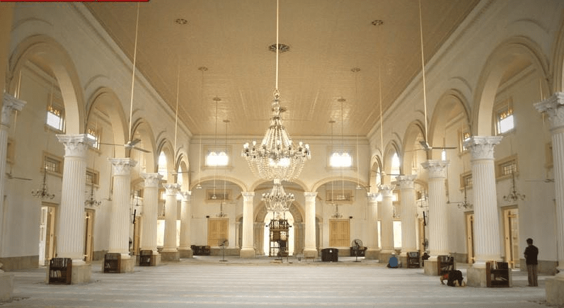 interior Masjid Jami' Sultan Abu Bakar