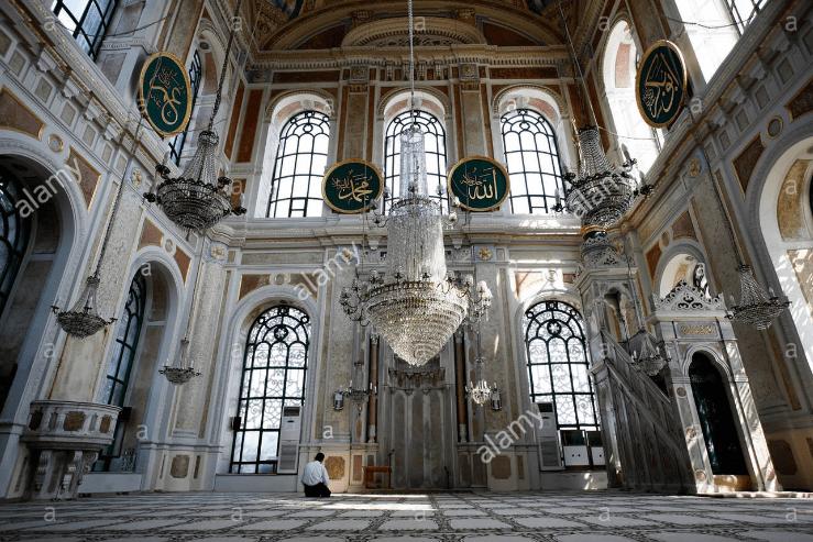 interior Masjid Ortakoy Istanbul
