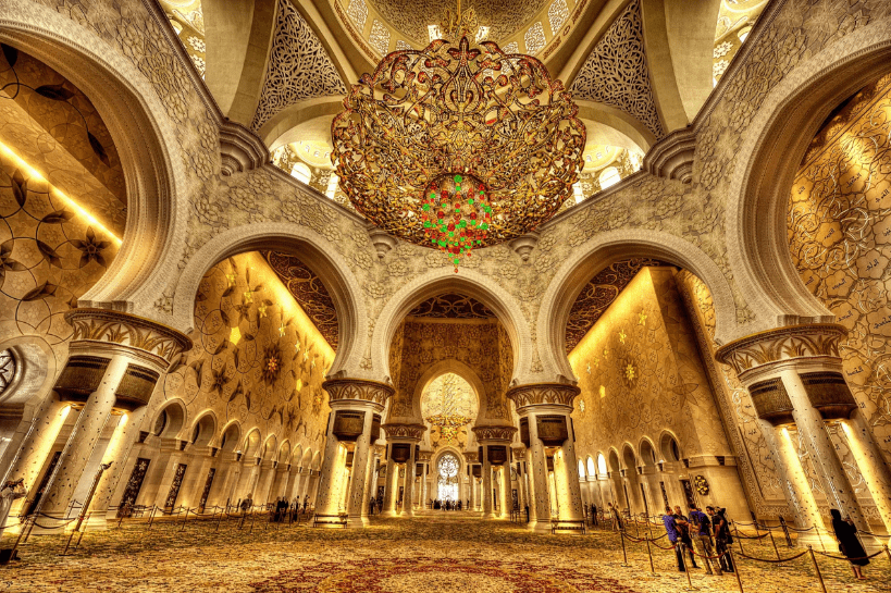 interior masjid syaikh zayed