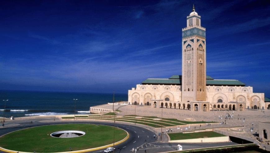 kemegahan masjid Hassan II