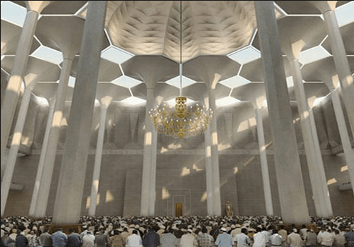 menampung ribuan, jamaah muslim