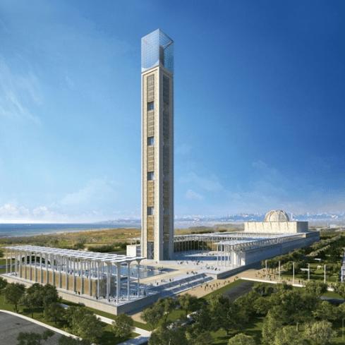 menara masjid tertinggi