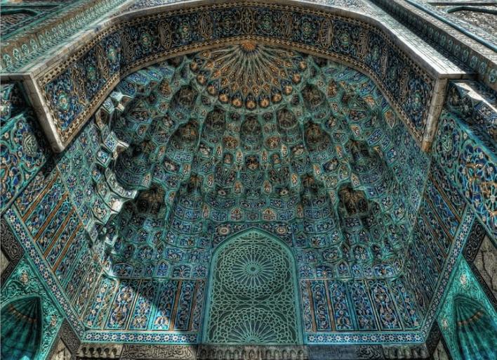 ukiran di setiap sudut di masjid petersburg rusia