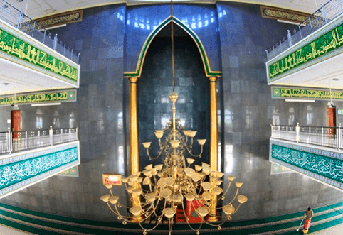 interior Masjid Agung Darussalam Taliwang