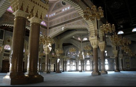 interior Masjid Agung Sana'a – Yaman