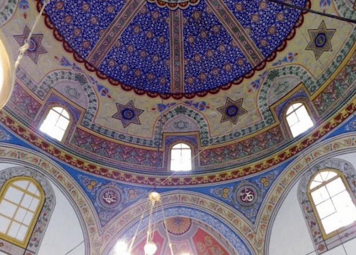 interior Masjid Hussein Pasja Pljevlja Montenegro