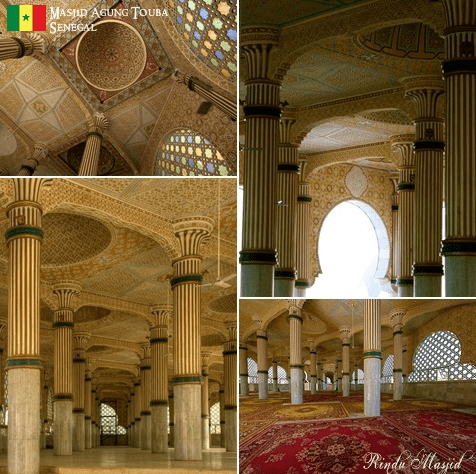 interior Masjid Rabbani Oukam, Senegal