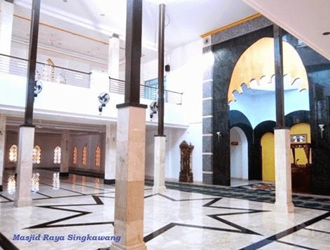 interior Masjid Raya Singkawang