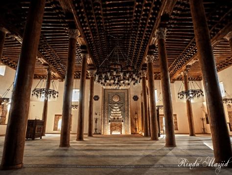 interior Masjid Sarang Singa – Masjid Tertua di Turki