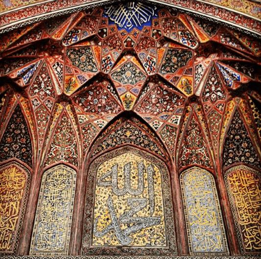 interior Masjid Wazir Khan Lahore
