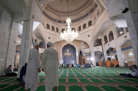 interior masjid agung almaty