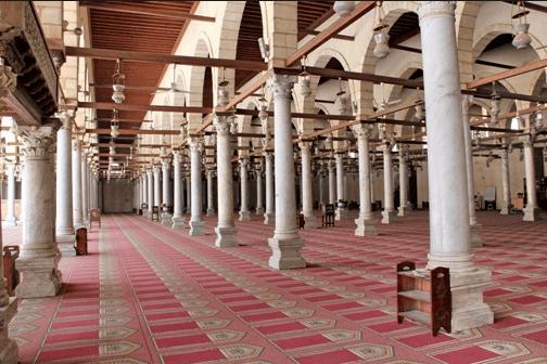 interior masjid amru bin ash