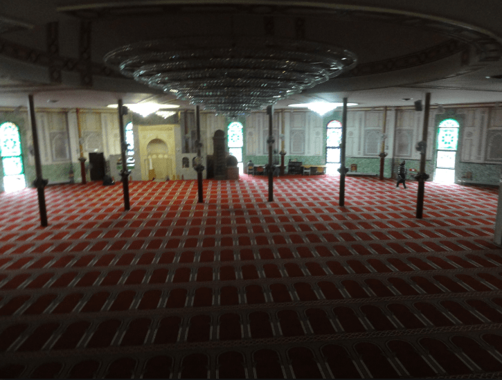interior masjid brussel