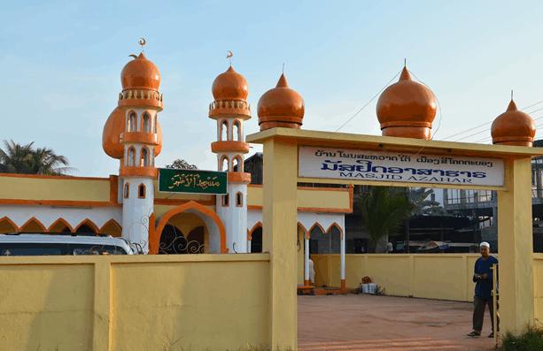 Masjid Azahar Di Vientiane Laos