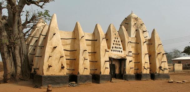 Masjid Larabanga Di Ghana Afrika