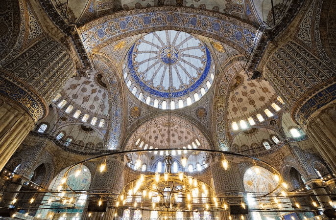 interior The Blue Mosque
