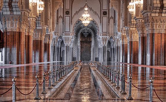 interior Masjid Hassan II
