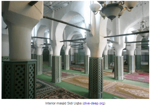 interior masjid sidi uqba