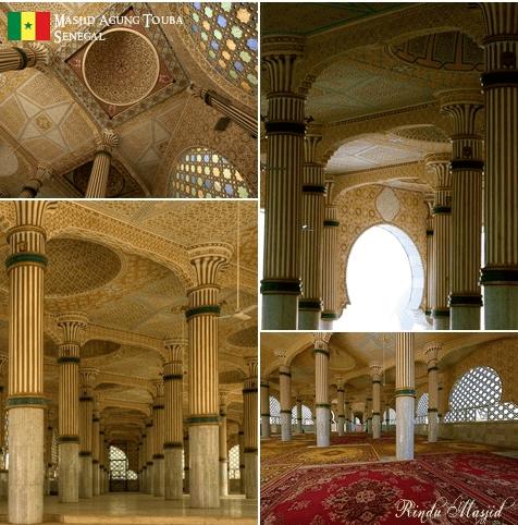 interior masjid agung touba