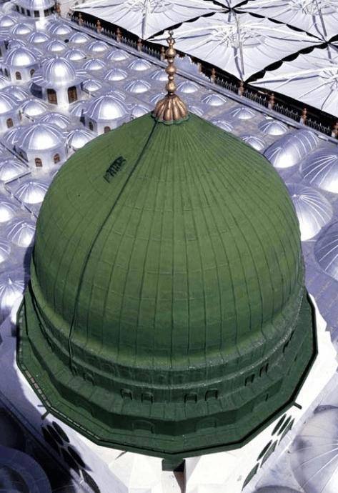 kubah hijau masjid nabawi