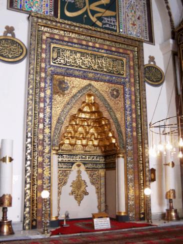 mihrab Masjid Agung Bursa, Turki
