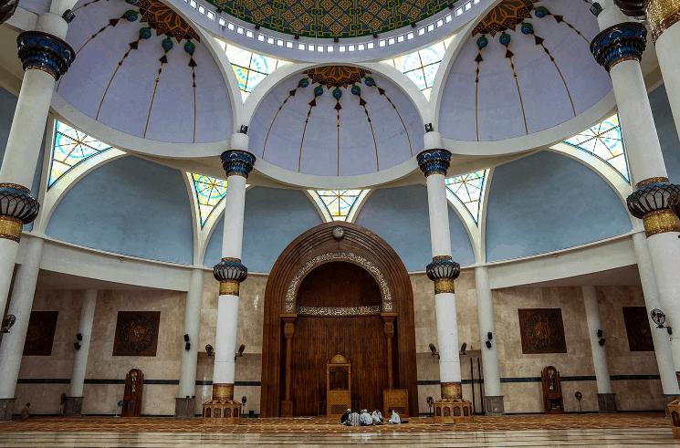 mihrab masjid agung natuna