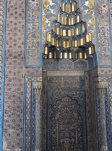 ornamen interior masjid agung bursa