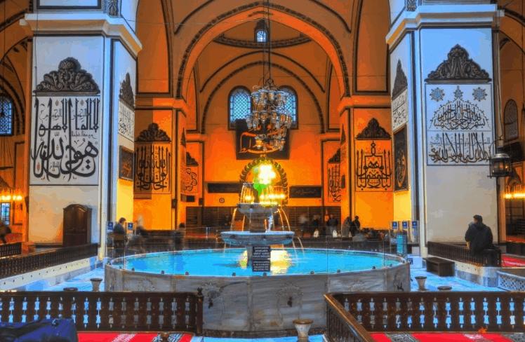 tempat wudhu Masjid Agung Bursa, Turki