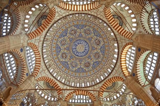 langit langit Masjid Selimiye