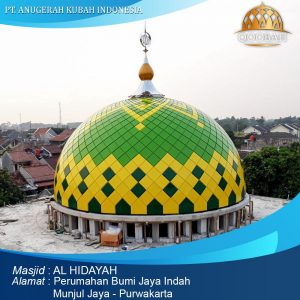 kubah masjid alhidayah munjul jaya purwakarta