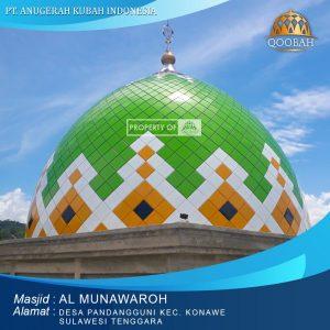 kubah masjid almunawaroh konawe sulawesi tenggara