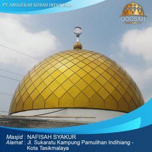 kubah masjid nafisiah syakur tasikmalaya