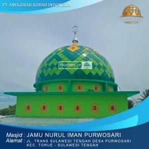 kubah masjid nurul iman Porwosari toruf sulawesi tengah