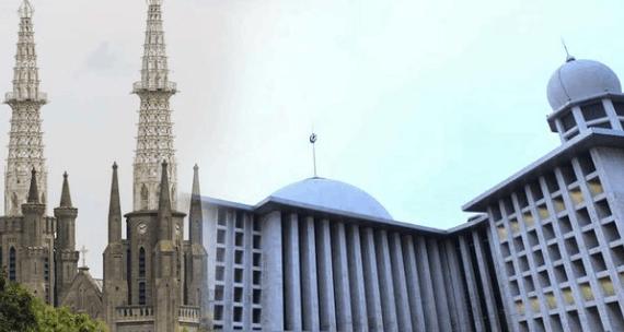 Masjid Istiqlal dan Gereja Katedral Simbol Toleransi Antar Agama